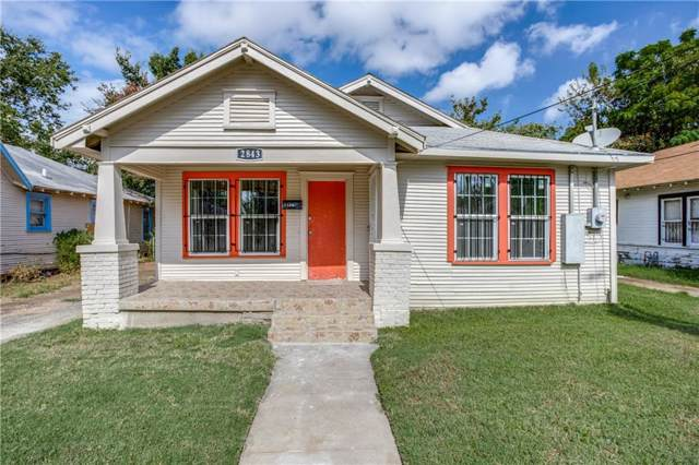 2843 Metropolitan Avenue, Dallas, TX 75215 (MLS #14190011) :: Baldree Home Team