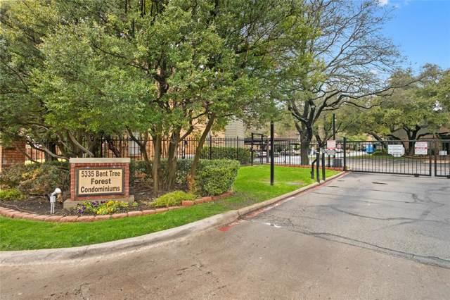 5335 Bent Tree Forest Drive #110, Dallas, TX 75248 (MLS #14268050) :: RE/MAX Pinnacle Group REALTORS