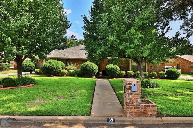 39 Augusta Drive, Abilene, TX 79606 (MLS #14628759) :: The Mitchell Group
