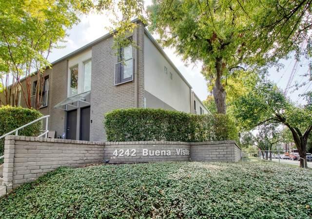 4242 Buena Vista Street #11, Dallas, TX 75205 (MLS #14692310) :: The Chad Smith Team