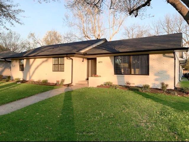 6851 Whitehill Street, Dallas, TX 75231 (MLS #14028561) :: Robbins Real Estate Group
