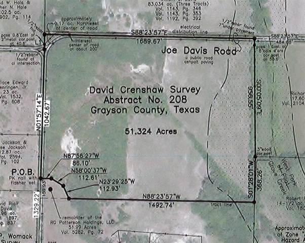 51 AC Joe Davis Road, Whitewright, TX 75491 (MLS #14280951) :: Baldree Home Team