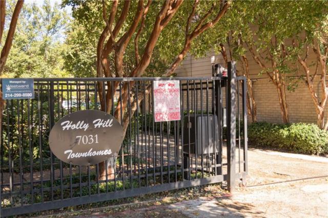 7031 Holly Hill Drive #14, Dallas, TX 75231 (MLS #13659329) :: Team Hodnett