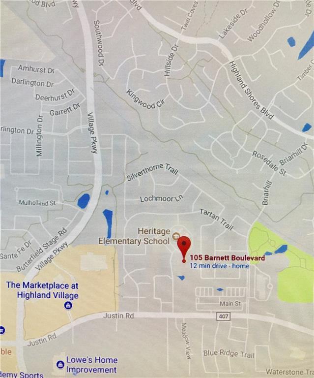 105 Barnett Drive, Highland Village, TX 75077 (MLS #13635631) :: The Real Estate Station