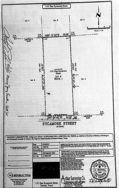 1121 E Sycamore Street, Denton, TX 76205 (MLS #14009114) :: The Real Estate Station