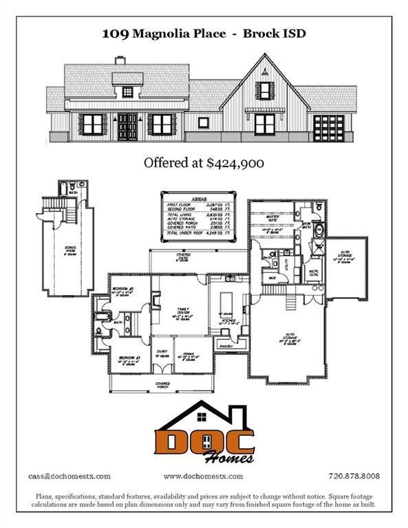 109 Magnolia Place, Brock, TX 76087 (MLS #14123279) :: Kimberly Davis & Associates