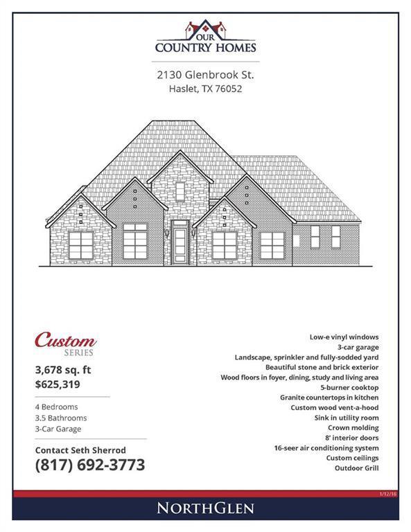 2130 Glenbrook Street, Haslet, TX 76052 (MLS #14125594) :: The Heyl Group at Keller Williams