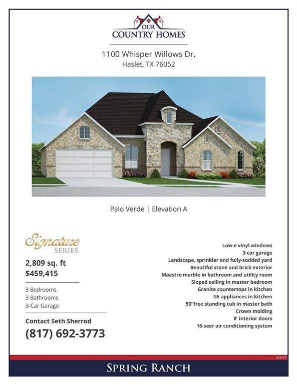 1100 Whisper Willows Drive, Haslet, TX 76052 (MLS #14139218) :: RE/MAX Town & Country