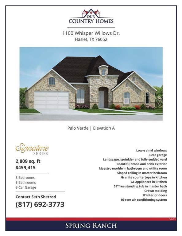 1100 Whisper Willows Drive, Haslet, TX 76052 (MLS #14139218) :: Lynn Wilson with Keller Williams DFW/Southlake