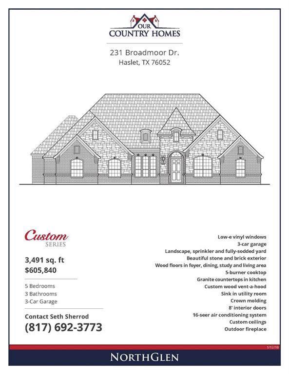 231 Broadmoor Drive, Haslet, TX 76052 (MLS #14140250) :: Lynn Wilson with Keller Williams DFW/Southlake