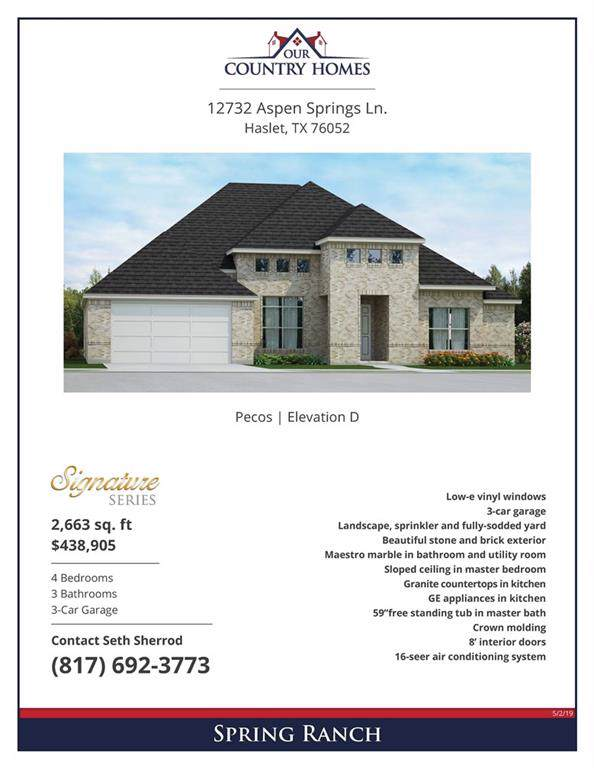 12732 Aspen Springs Lane, Haslet, TX 76052 (MLS #14165673) :: Ann Carr Real Estate