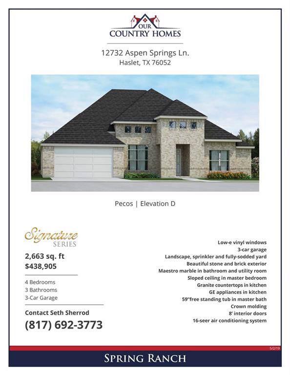 12732 Aspen Springs Lane, Haslet, TX 76052 (MLS #14165673) :: The Heyl Group at Keller Williams