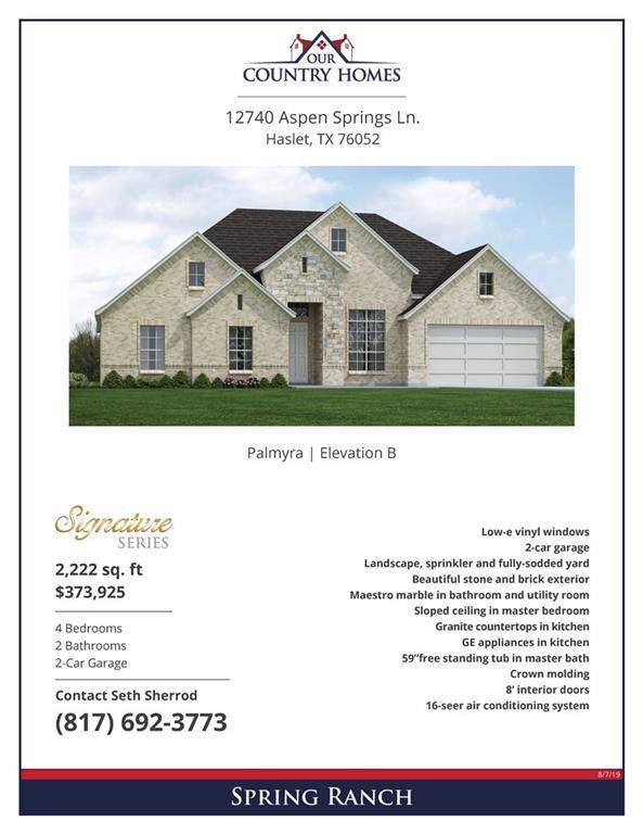 12740 Apen Springs Lane, Haslet, TX 76052 (MLS #14165690) :: The Chad Smith Team