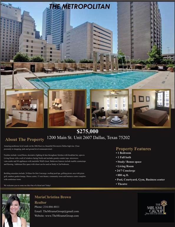 1200 Main Street #2607, Dallas, TX 75202 (MLS #14186048) :: Tenesha Lusk Realty Group