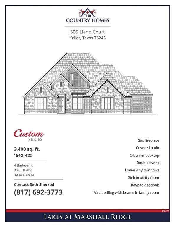 505 Llano, Keller, TX 76248 (MLS #14190075) :: The Heyl Group at Keller Williams
