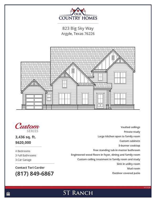 823 Big Sky Way, Argyle, TX 76226 (MLS #14264325) :: The Real Estate Station