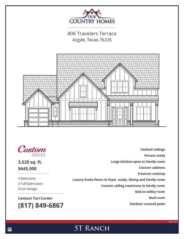 406 Travelers Terrace, Argyle, TX 76226 (MLS #14264381) :: The Real Estate Station