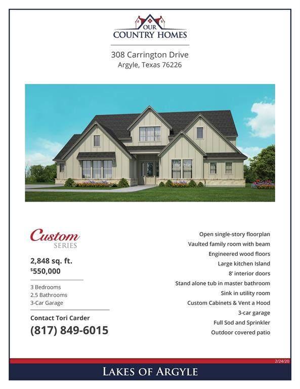 308 Carrington Drive, Argyle, TX 76226 (MLS #14310925) :: Post Oak Realty