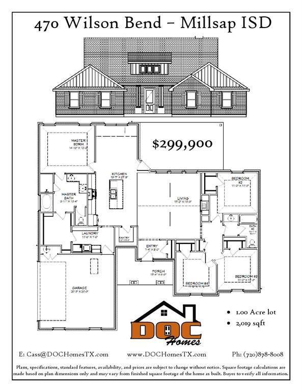 470 Wilson Bend, Millsap, TX 76066 (MLS #14386608) :: Hargrove Realty Group