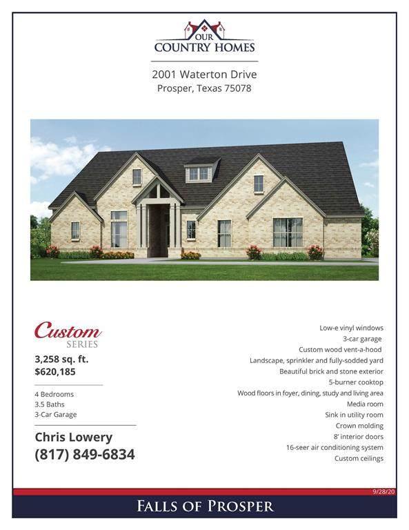 2001 Waterton Drive, Prosper, TX 75078 (MLS #14455007) :: The Star Team | JP & Associates Realtors