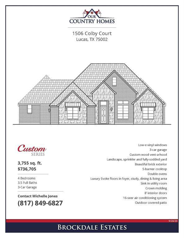 1506 Colby Court, Lucas, TX 75002 (MLS #14460346) :: The Paula Jones Team | RE/MAX of Abilene