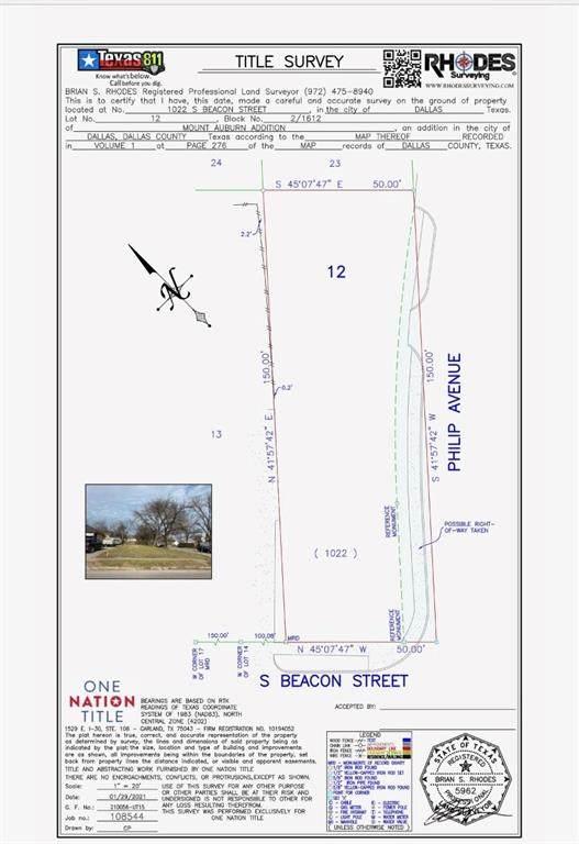 1022 S Beacon Street, Dallas, TX 75223 (MLS #14555058) :: The Chad Smith Team