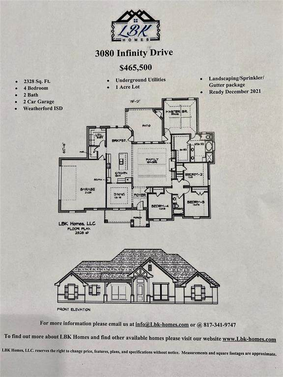 3080 Infinity Drive, Weatherford, TX 76087 (MLS #14697720) :: The Mitchell Group