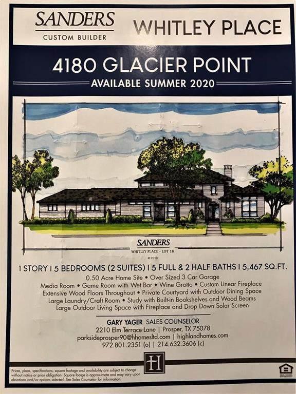 4180 Glacier Point Ct., Prosper, TX 75078 (MLS #14308872) :: The Kimberly Davis Group