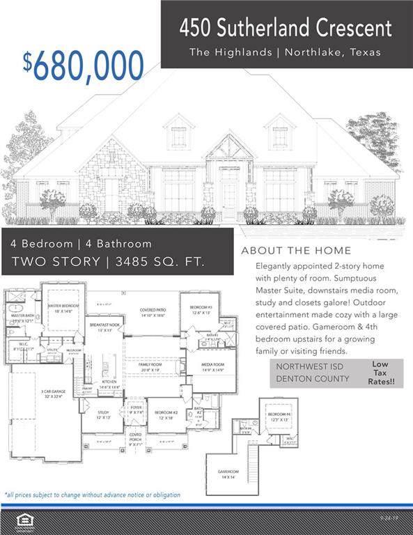450 Sutherland Crescent, Northlake, TX 76247 (MLS #14164824) :: The Real Estate Station