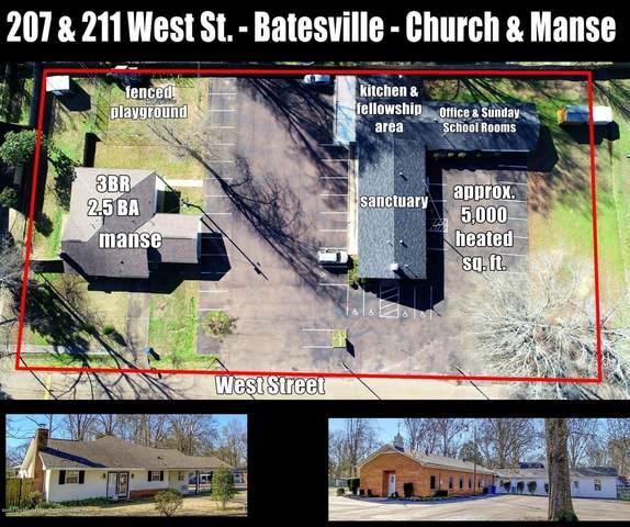 211 & 207 West Street, Batesville, MS 38606 (MLS #327821) :: The Live Love Desoto Group