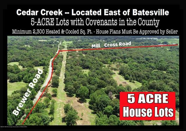 Lot 3 Brewer Road, Batesville, MS 38606 (MLS #328467) :: The Live Love Desoto Group