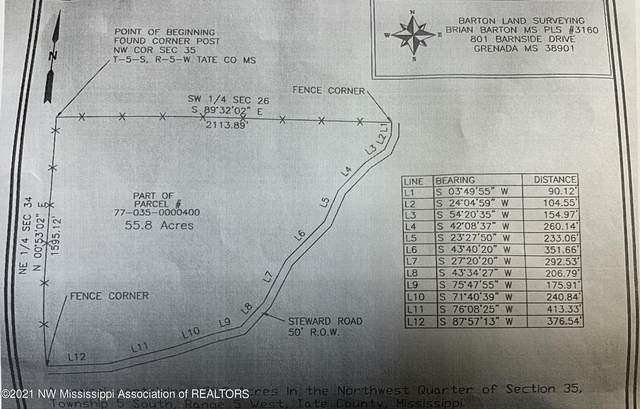 55 Acres Steward Road, Senatobia, MS 38668 (MLS #335130) :: The Live Love Desoto Group