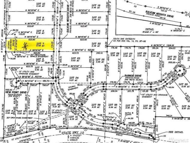 0-Lot 7 Salkum Heights Dr, Mossyrock, WA 98564 (#1146860) :: Ben Kinney Real Estate Team