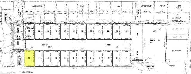 LOT 12 Totten Street, Embro, ON N0J 1J0 (MLS #40105412) :: Envelope Real Estate Brokerage Inc.