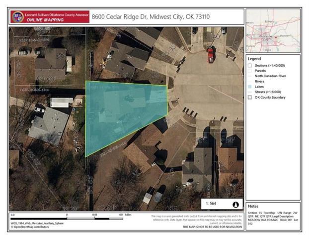 8600 Cedar Ridge, Midwest City, OK 73110 (MLS #788266) :: Wyatt Poindexter Group