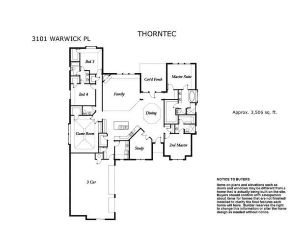 3101 Warwick Place, Edmond, OK 73013 (MLS #795742) :: Richard Jennings Real Estate, LLC