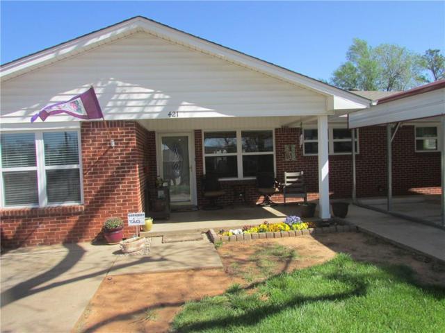 421 W Van Buren, Purcell, OK 73080 (MLS #815547) :: UB Home Team