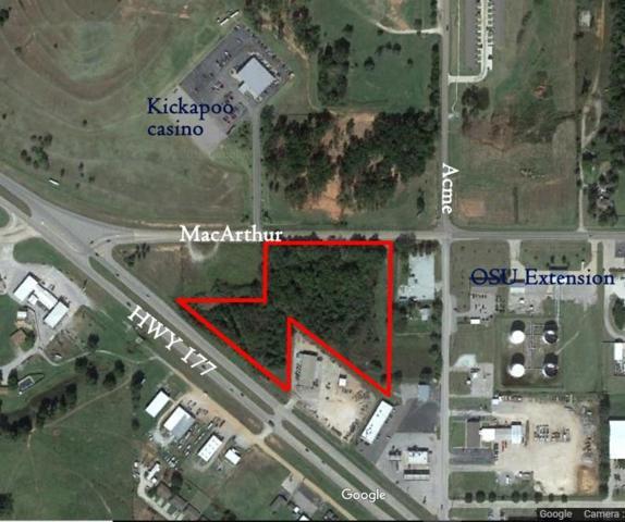 Hwy177/Macarthur, Shawnee, OK 74804 (MLS #840577) :: Erhardt Group at Keller Williams Mulinix OKC