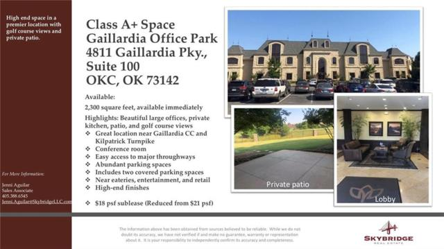 4811 Gaillardia Parkway #100, Oklahoma City, OK 73142 (MLS #878640) :: Homestead & Co