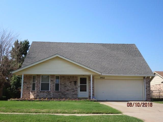3412 Hillside Drive, Del City, OK 73115 (MLS #778848) :: Richard Jennings Real Estate, LLC