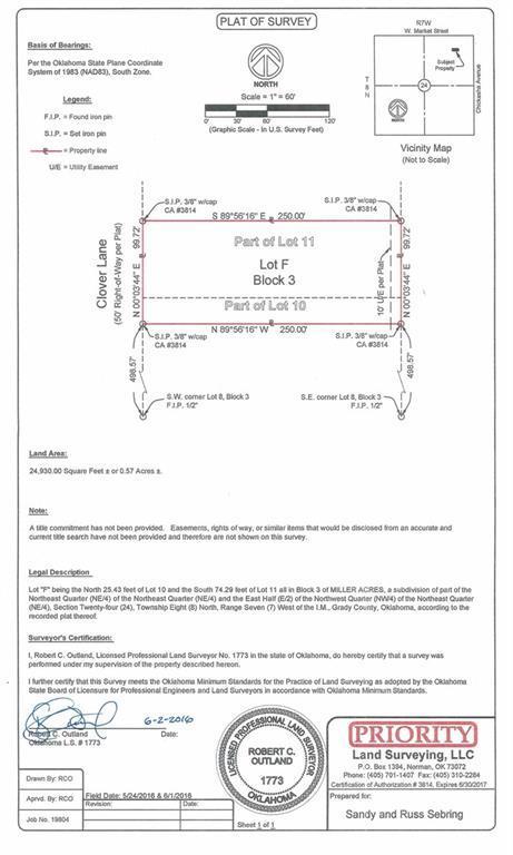 Lot F Block 3 Clover Lane, Amber, OK 73004 (MLS #813760) :: UB Home Team