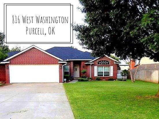 816 W Washington Street, Purcell, OK 73080 (MLS #911135) :: Erhardt Group at Keller Williams Mulinix OKC