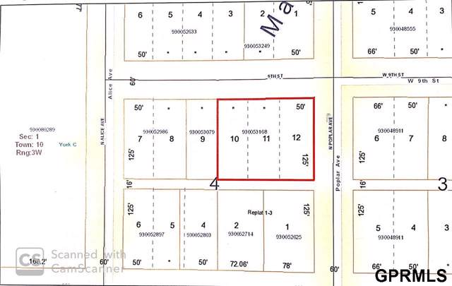 Lts 10-12, Blk4 Mansfields Sub, York, NE 68467 (MLS #21929263) :: One80 Group/Berkshire Hathaway HomeServices Ambassador Real Estate