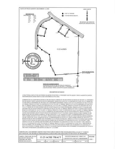 13.25 AC County Road 435, OXFORD, MS 38655 (MLS #147535) :: Cannon Cleary McGraw