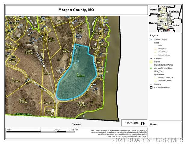 Part of Lot 34 and 4 Center Road, Sunrise Beach, MO 65079 (MLS #3539844) :: Coldwell Banker Lake Country