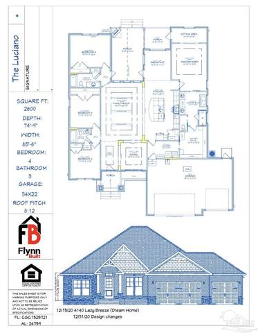4140 Lazy Breeze Ln, Milton, FL 32583 (MLS #590984) :: Connell & Company Realty, Inc.