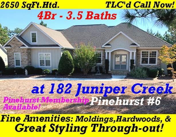 182 Juniper Creek Boulevard, Pinehurst, NC 28374 (MLS #208363) :: Pinnock Real Estate & Relocation Services, Inc.