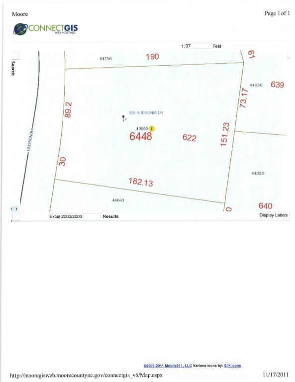 955 Hudsonia Drive, Vass, NC 28394 (MLS #185634) :: Weichert, Realtors - Town & Country