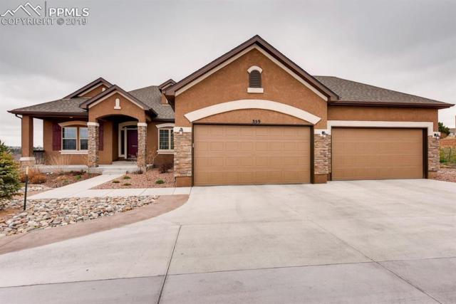 359 Coyote Willow Drive, Colorado Springs, CO 80921 (#5394242) :: The Hunstiger Team