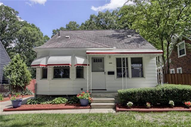 1415 Longfellow Ave, Royal Oak, MI 48067 (MLS #217074457) :: The Peardon Team